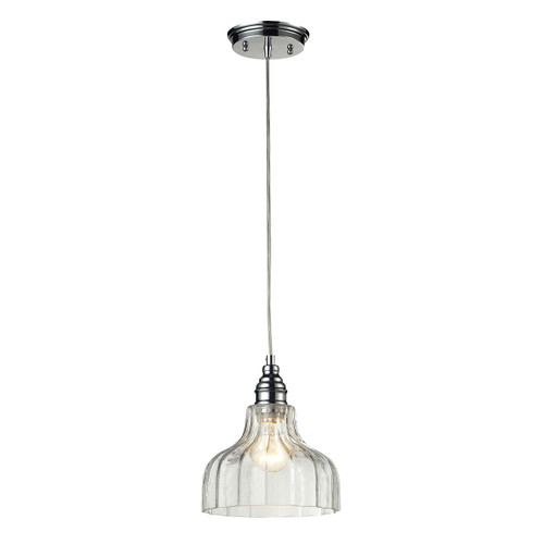ELK Lighting 46018/1 Danica 1-Light Mini Pendant in Polished Chrome with Clear Glass