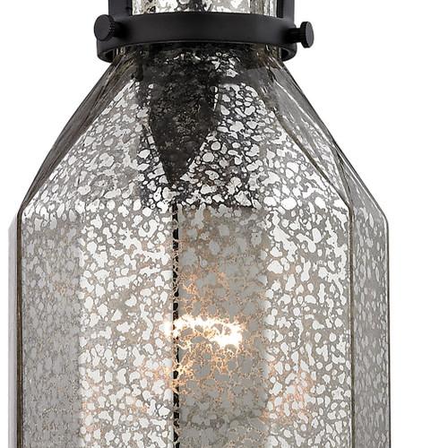ELK Lighting 46009/1 Danica 1-Light Mini Pendant in Oil Rubbed Bronze with Mercury Glass