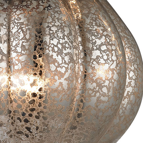 ELK Lighting 46024/1 Danica 1-Light Mini Pendant in Oil Rubbed Bronze with Mercury Glass
