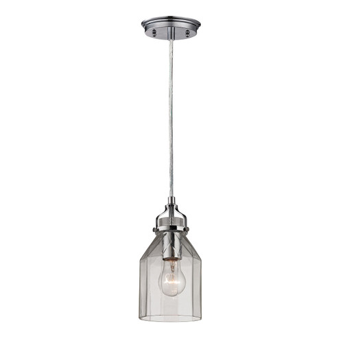 ELK Lighting 46019/1 Danica 1-Light Mini Pendant in Polished Chrome with Clear Glass