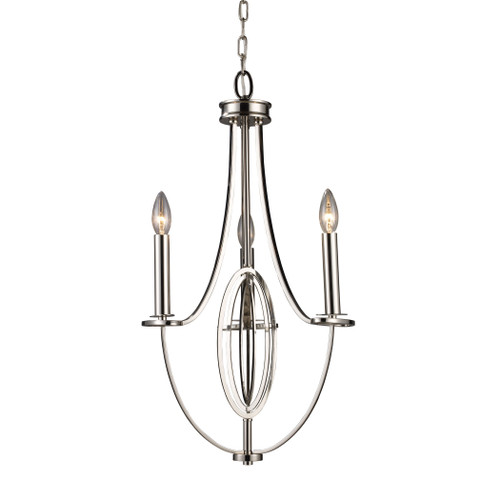 ELK Lighting 10120/3 Dione 3-Light Chandelier in Polished Nickel