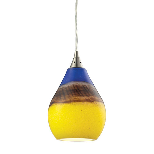 ELK Lighting 31616-1 Dunes 1 Light Pendant in Satin Nickel