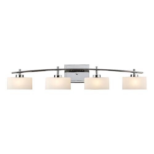 ELK Lighting 17083/4 Eastbrook 4-Light Vanity Lamp in Polished Chrome with Opal White Glass