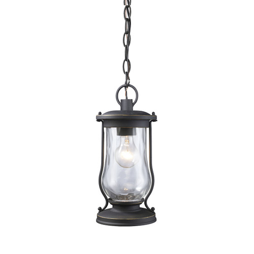 ELK Lighting 43017/1 Farmstead 1-Light Outdoor Hanging Lantern in Matte Black