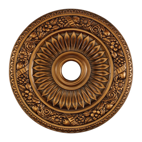 ELK Lighting M1006AB Floral Wreath Medallion 24 Inch in Antique Bronze Finish