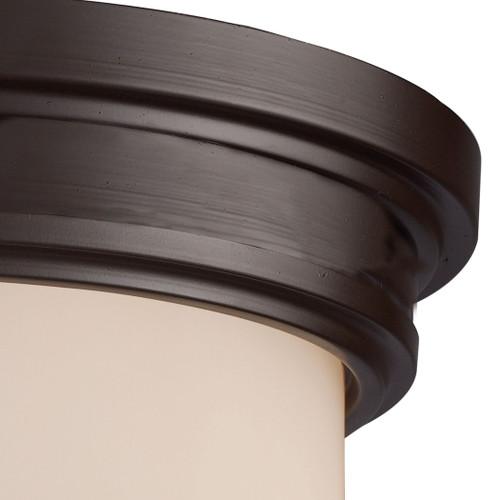 ELK Lighting 15025/2 Flushmounts 2-Light Flush Mount in Oiled Bronze with Off-white Glass