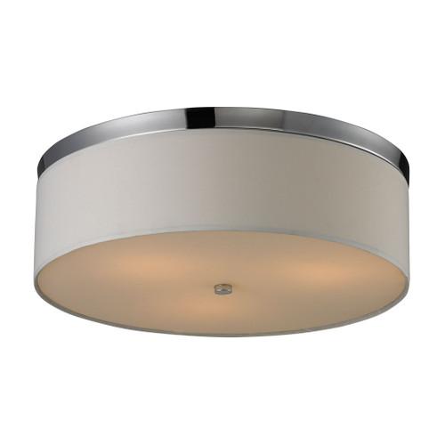 ELK Lighting 11445/3 Flushmounts 3-Light Flush Mount in Polished Chrome with Diffuser