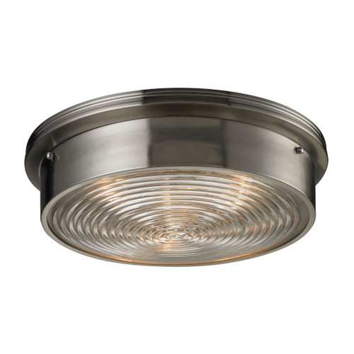 ELK Lighting 11463/3 Chadwick 3-Light Flush Mount in Brushed Nickel with Diffuser