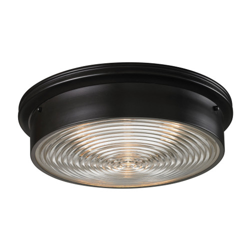 ELK Lighting 11453/3 Chadwick 3-Light Flush Mount in Oiled Bronze with Diffuser