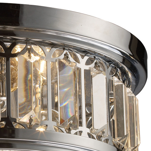 ELK Lighting 11226/2 Flushmounts 2-Light Flush Mount in Polished Chrome with Glass and Crystal