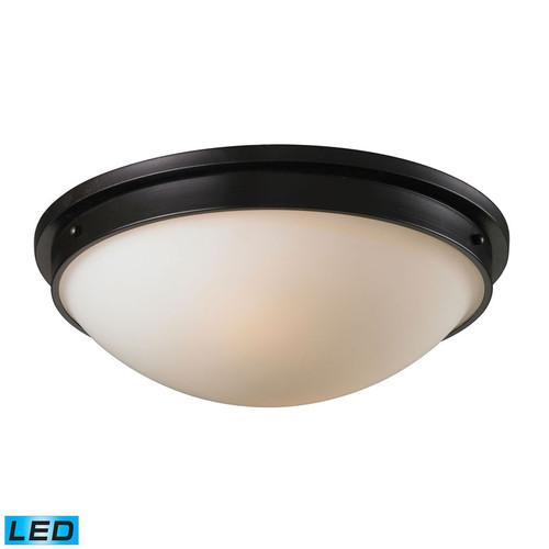 ELK Lighting 11451-2-LED Flush Mounts 2 Light Flushmount in Oiled Bronze (LED)