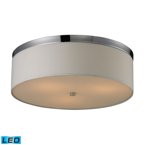 ELK Lighting 11445/3-LED Flushmounts 3-Light Flush Mount in Polished Chrome with Diffuser - Includes LED Bulbs
