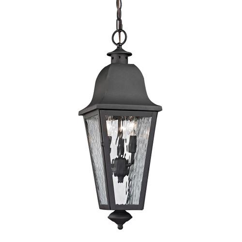 ELK Lighting 47104/3 Forged Brookridge 3-Light Outdoor Pendant in Charcoal