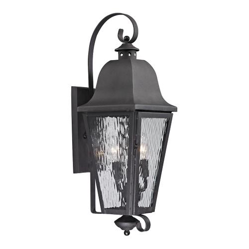 ELK Lighting 47102/3 Forged Brookridge 3-Light Outdoor Wall Lamp in Charcoal