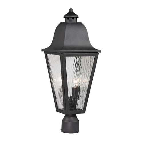 ELK Lighting 47105/3 Forged Brookridge 3-Light Outdoor Post Mount in Charcoal