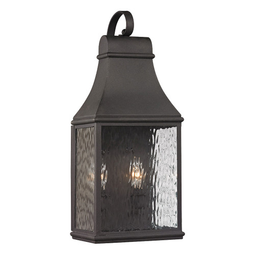 ELK Lighting 47071/2 Forged Jefferson 2-Light Outdoor Wall Lamp in Charcoal
