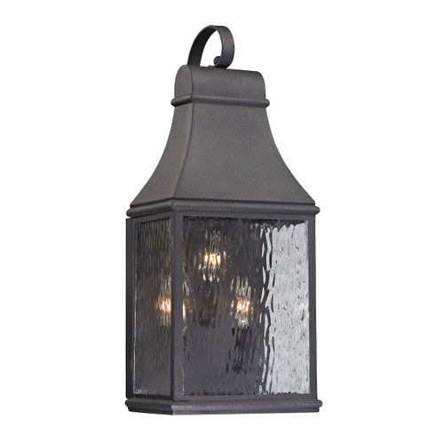 ELK Lighting 47072/3 Forged Jefferson 3-Light Outdoor Wall Lamp in Charcoal