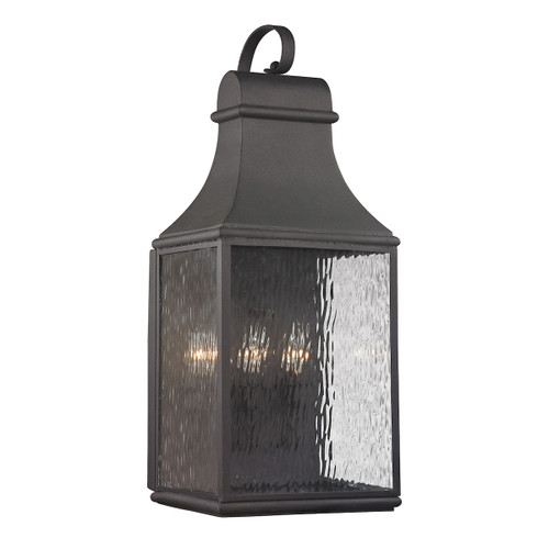 ELK Lighting 47073/3 Forged Jefferson 3-Light Outdoor Wall Lamp in Charcoal