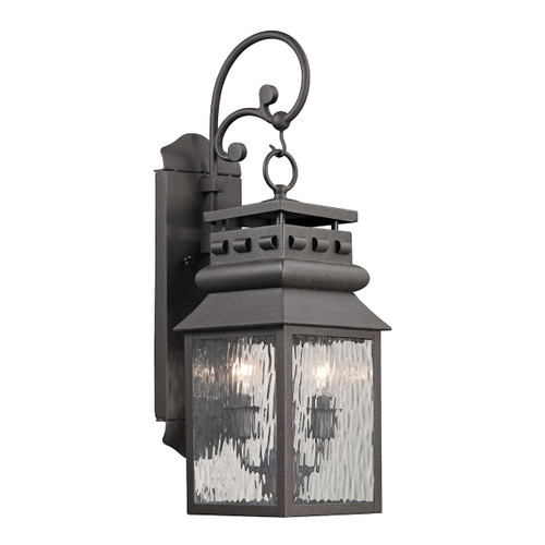 ELK Lighting 47065/2 Forged Lancaster 2-Light Outdoor Wall Lamp in Charcoal