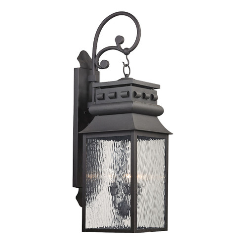 ELK Lighting 47064/3 Forged Lancaster 3-Light Outdoor Wall Lamp in Charcoal