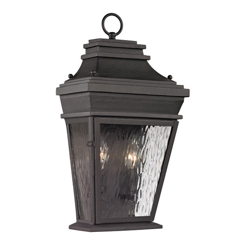 ELK Lighting 47052/2 Forged Provincial 2-Light Outdoor Wall Lamp in Charcoal