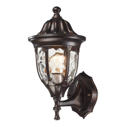 ELK Lighting 45000/1 Glendale 1-Light Outdoor Wall Lamp in Regal Bronze