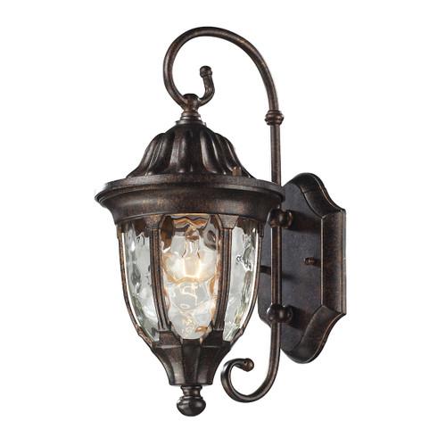 ELK Lighting 45002/1 Glendale 1-Light Outdoor Wall Lamp in Regal Bronze