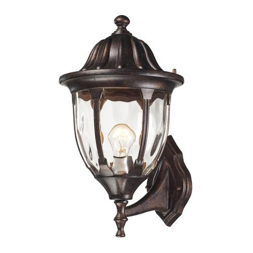 ELK Lighting 45001/1 Glendale 1-Light Outdoor Wall Lamp in Regal Bronze