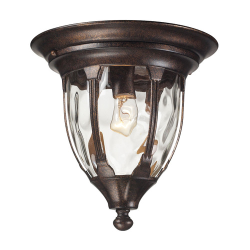 ELK Lighting 45004/1 Glendale 1-Light Outdoor Flush Mount in Regal Bronze