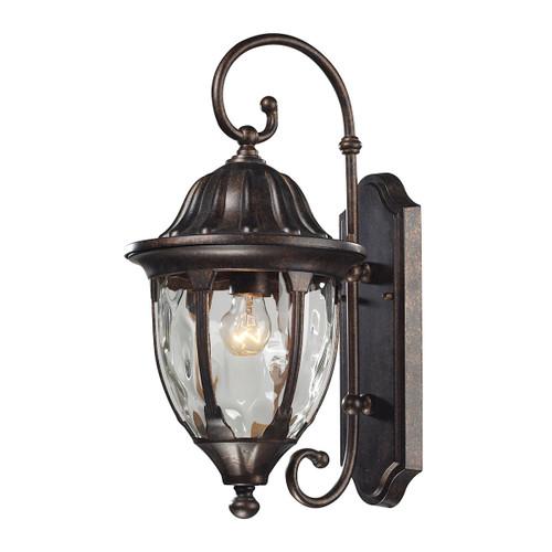 ELK Lighting 45003/1 Glendale 1-Light Outdoor Wall Lamp in Regal Bronze