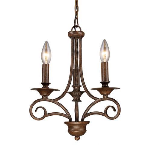 ELK Lighting 15041/3 Gloucester 3-Light Chandelier in Antique Bronze