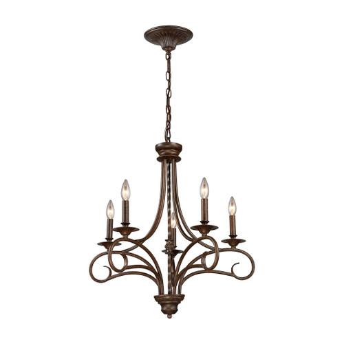 ELK Lighting 15042/5 Gloucester 5-Light Chandelier in Antique Bronze