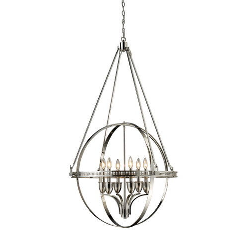 ELK Lighting 10193/6 Hemispheres 6-Light Chandelier in Polished Nickel