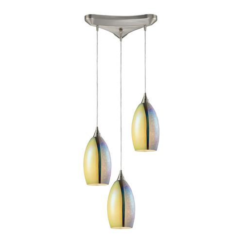 ELK Lighting 31495-3 Horizon 3 Light Pendant in Satin Nickel