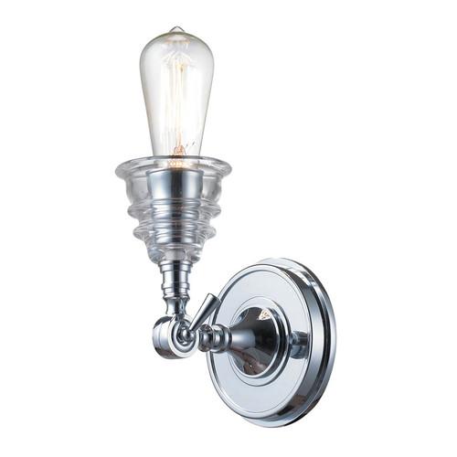ELK Lighting 66800-1 Insulator Glass 1 Light Sconce in Polished Chrome