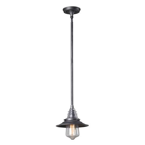 ELK Lighting 66827-1 Insulator Glass 1-Light Mini Pendant in Weathered Zinc