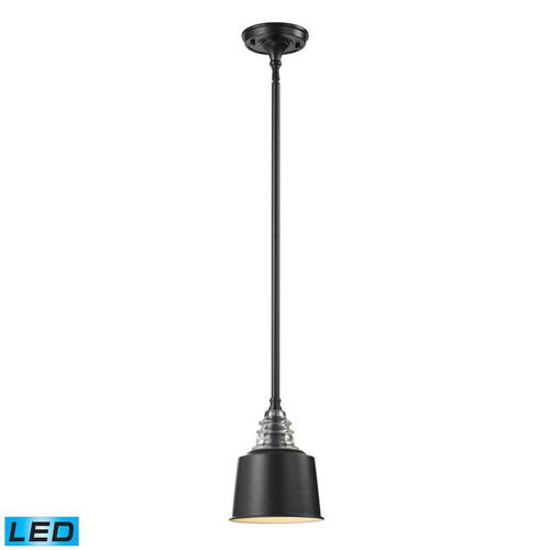ELK Lighting 66818-1-LED Insulator Glass 1 Light Pendant inOiled Bronze (LED)
