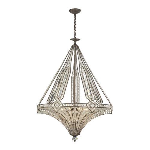 ELK Lighting 11784/7 Jausten 7-Light Chandelier in Antique Bronze with Crystal