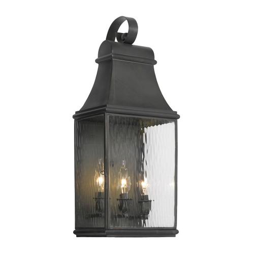 ELK Lighting 704-C Jefferson 3-Light Outdoor Wall Lamp in Charcoal