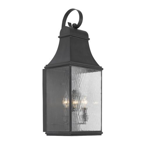 ELK Lighting 706-C Jefferson 3-Light Outdoor Wall Lamp in Charcoal