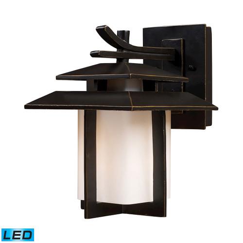ELK Lighting 42170/1-LED Kanso 1-Light Outdoor Wall Lamp in Hazelnut Bronze - Includes LED Bulb