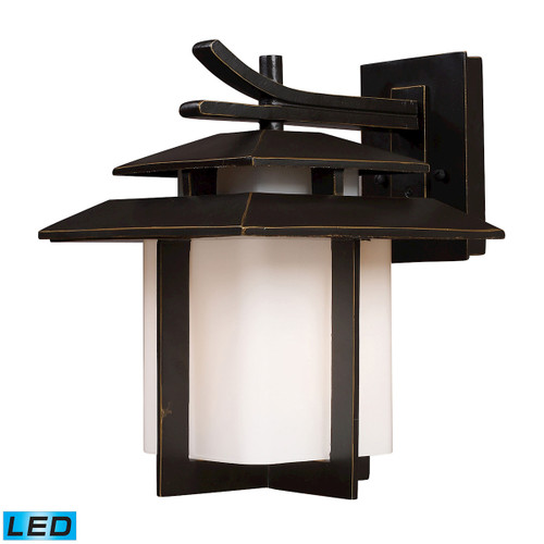 ELK Lighting 42171/1-LED Kanso 1-Light Outdoor Wall Lamp in Hazelnut Bronze - Includes LED Bulb