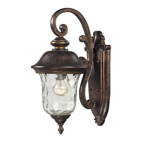 ELK Lighting 45020/1 Lafayette 1-Light Outdoor Wall Lamp in Regal Bronze