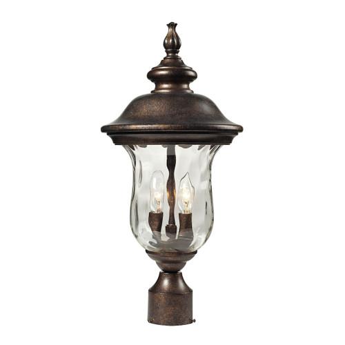 ELK Lighting 45023/2 Lafayette 2-Light Outdoor Post Mount in Regal Bronze