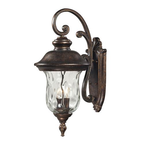 ELK Lighting 45021/2 Lafayette 2-Light Outdoor Wall Lamp in Regal Bronze