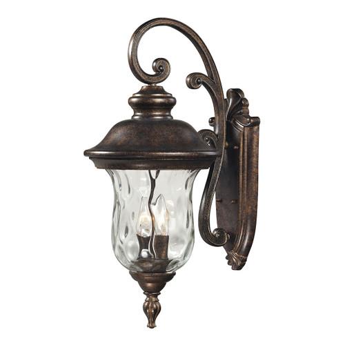ELK Lighting 45022/3 Lafayette 3-Light Outdoor Wall Lamp in Regal Bronze