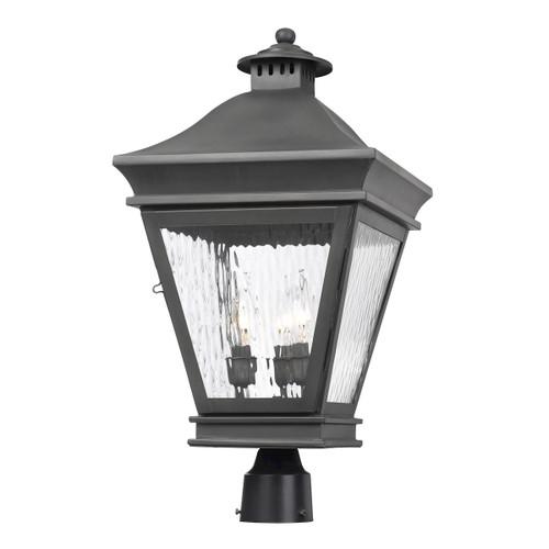 ELK Lighting 5723-C Landings 3-Light Outdoor Post Mount in Charcoal