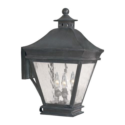 ELK Lighting 5722-C Landings 3-Light Outdoor Wall Lantern in Charcoal