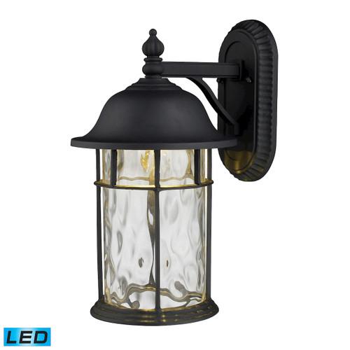ELK Lighting 42260/1 Lapuente 1-Light Outdoor Wall Lamp in Matte Black - Integrated LED