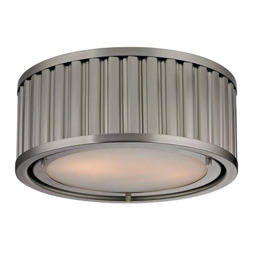 ELK Lighting 46110-2 Linden 2 Light Flushmount in Brushed Nickel